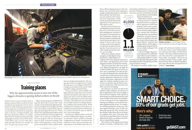Article Preview: Training places, September 2013 | Maclean's