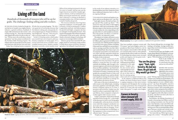 Article Preview: Living off the land, September 2013 | Maclean's