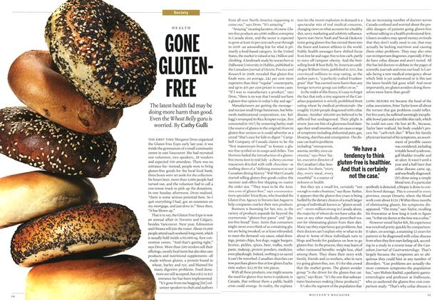 Article Preview: GONE GLUTEN-FREE, September 2013 | Maclean's