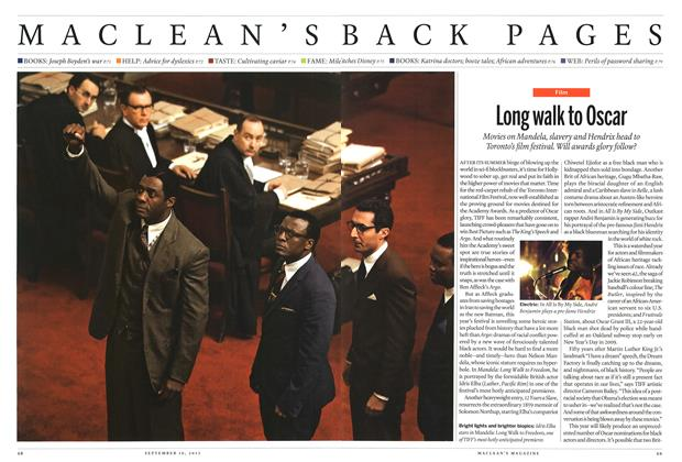 Article Preview: Long walk to Oscar, September 2013 | Maclean's