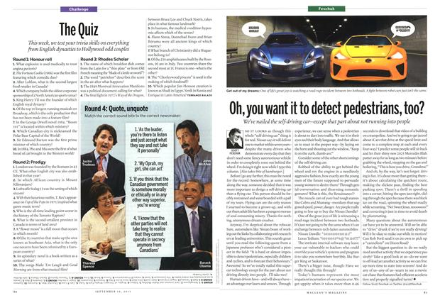Article Preview: Oh, you want it to detect pedestrians, too?, September 2013 | Maclean's