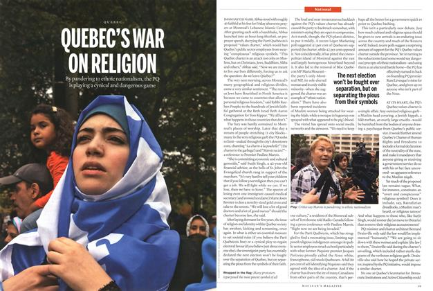 Article Preview: QUEBEC'S WAR ON RELIGION, September 2013 | Maclean's