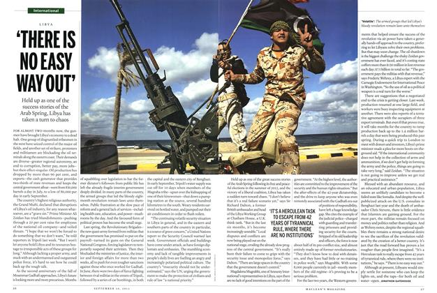 Article Preview: 'THERE IS NO EASY WAY OUT', September 2013 | Maclean's