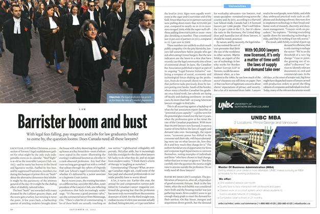 Article Preview: Barrister boom and bust, September 2013 | Maclean's