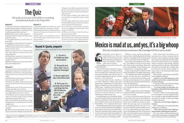 Article Preview: Mexico is mad at us, and yes, it's a big whoop, September 2013 | Maclean's