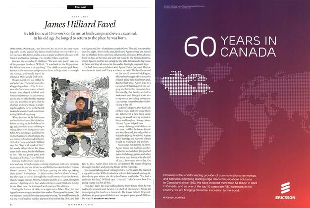 Article Preview: 1935-2013 James Hilliard Favel, September 2013 | Maclean's