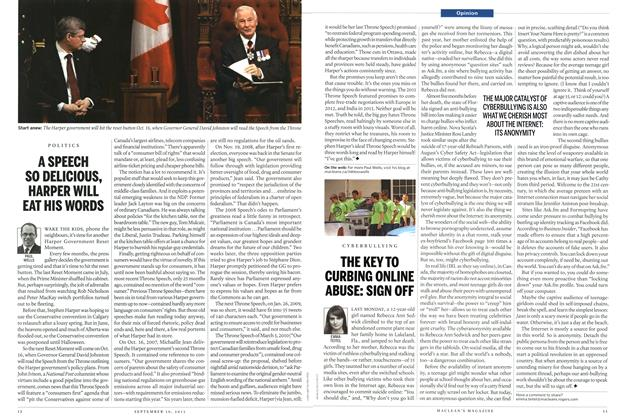Article Preview: A SPEECH SO DELICIOUS, HARPER WILL EAT HIS WORDS, September 2013 | Maclean's