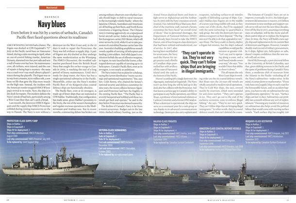 Article Preview: Navy blues, October 2013 | Maclean's