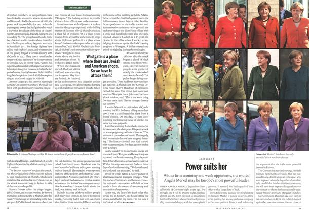 Article Preview: Power suits her, October 2013 | Maclean's