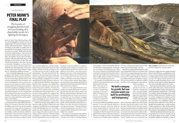 Article Preview: PETER MUNK'S FINAL PLAY, October 2013 | Maclean's