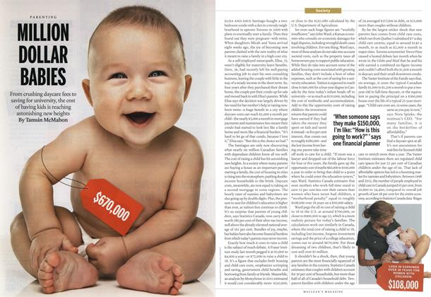 Article Preview: MILLION DOLLAR BABIES, October 2013 | Maclean's