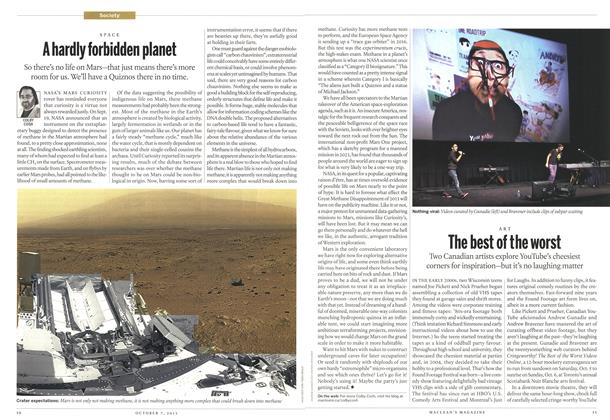 Article Preview: A hardly forbidden planet, October 2013 | Maclean's