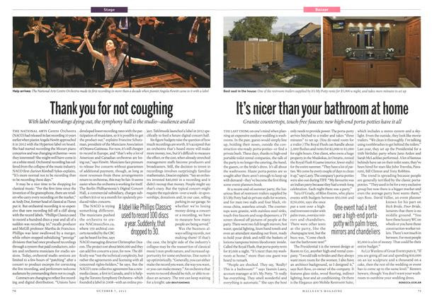 Article Preview: It's nicer than your bathroom at home, October 2013 | Maclean's