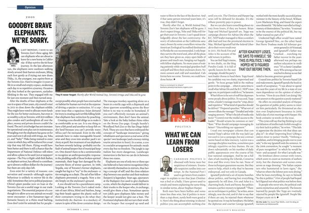 Article Preview: GOODBYE BRAVE ELEPHANTS. WE'RE SORRY., October 2013 | Maclean's