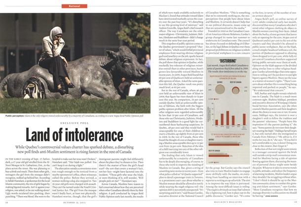 Article Preview: Land of intolerance, October 2013 | Maclean's