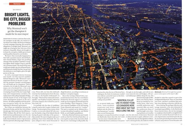 Article Preview: BRIGHT LIGHTS, BIG CITY, BIGGER PROBLEMS, October 2013 | Maclean's