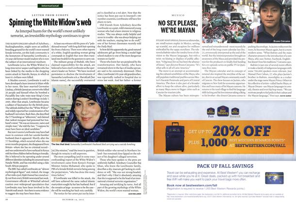 Article Preview: Spinning the White Widow's web, October 2013 | Maclean's