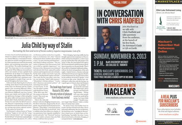 Article Preview: Julia Child by way of Stalin, October 2013 | Maclean's
