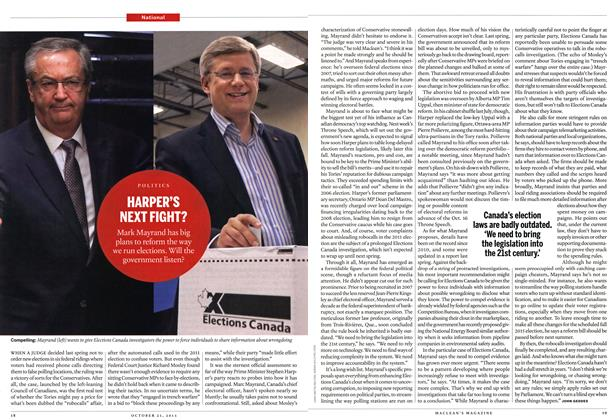 Article Preview: HARPER'S NEXT FIGHT?, October 2013 | Maclean's
