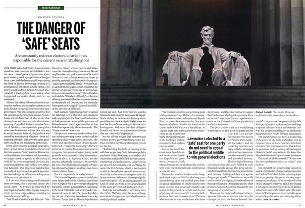 Article Preview: THE DANGER OF 'SAFE' SEATS, October 2013 | Maclean's