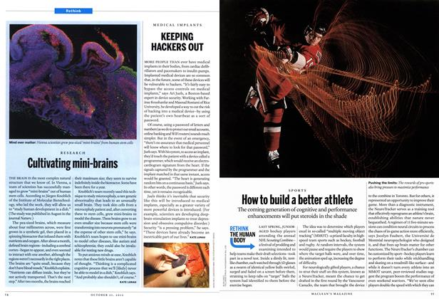 Article Preview: How to build a better athlete, October 2013 | Maclean's