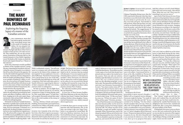 Article Preview: THE MANY BONFIRES OF PAUL DESMARAIS, October 2013 | Maclean's