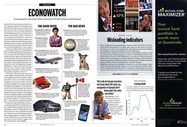 Article Preview: ECONOWATCH, October 2013   Maclean's