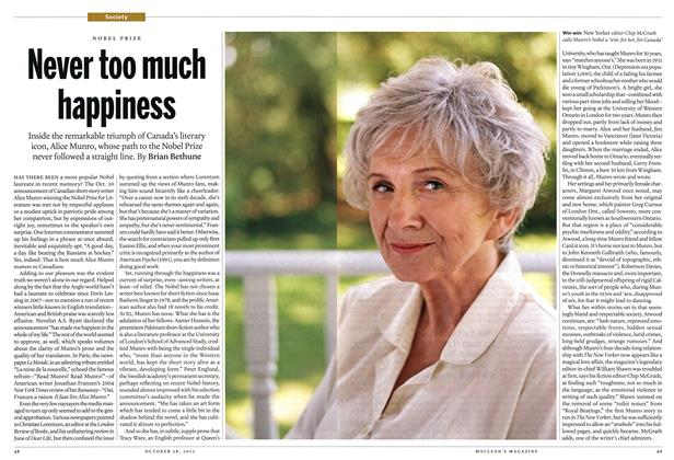 Article Preview: Never too much happiness, October 2013 | Maclean's