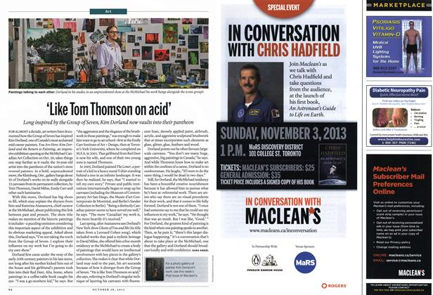 Article Preview: 'Like Tom Thomson on acid', October 2013 | Maclean's