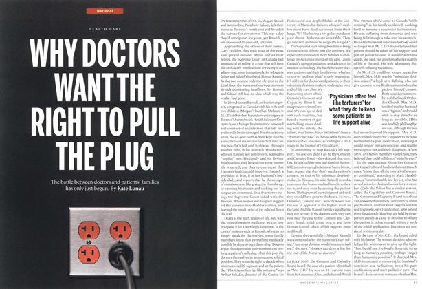 Article Preview: WHY DOCTORS WAN THE RIGHT TO PULL THE PLUG, November 2013 | Maclean's