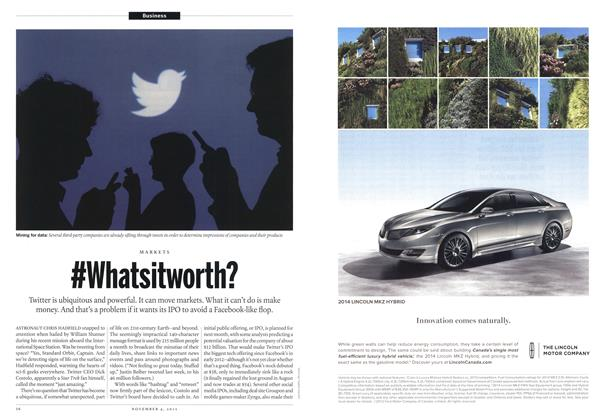 Article Preview: #Whatsitworth?, November 2013 | Maclean's