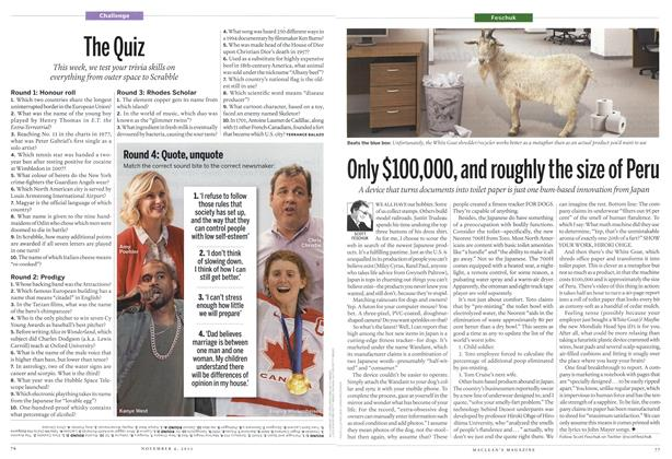 Article Preview: Only $100,000, and roughly the size of Peru, November 2013 | Maclean's