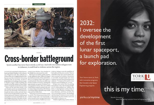 Article Preview: Cross-border battleground, November 2013 | Maclean's