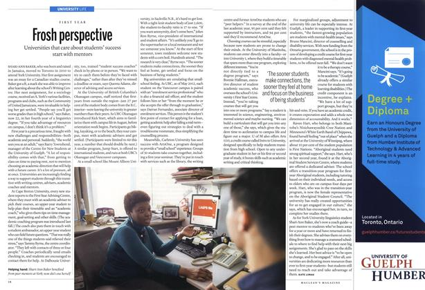 Article Preview: Frosh perspective, November 2013 | Maclean's