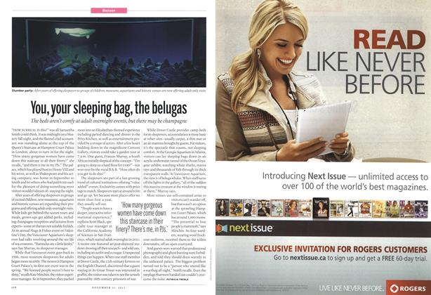 Article Preview: You, your sleeping bag, the belugas, November 2013   Maclean's