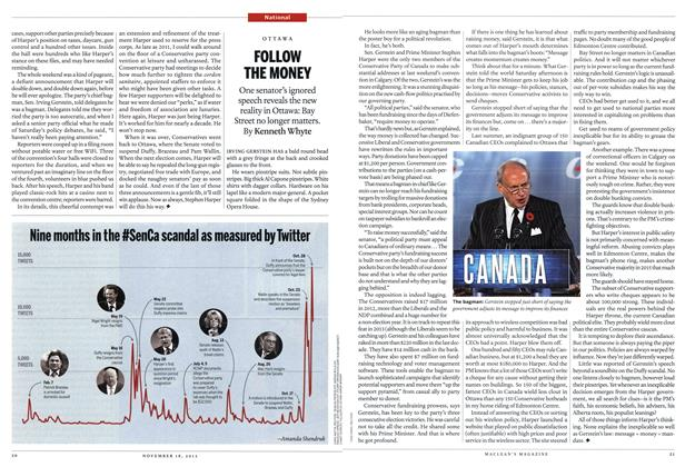 Article Preview: FOLLOW THE MONEY, November 2013 | Maclean's