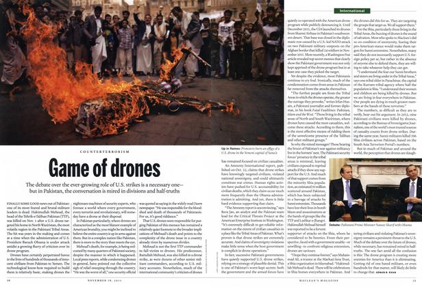 Article Preview: Game of drones, November 2013 | Maclean's