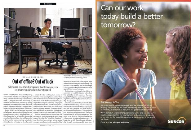Article Preview: Out of office? Out of luck, November 2013 | Maclean's