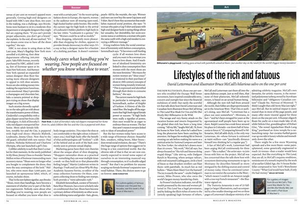 Article Preview: Lifestyles of the rich and fatuous, November 2013 | Maclean's