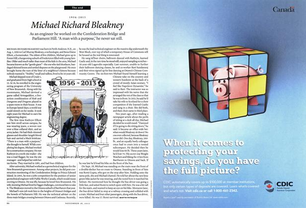 Article Preview: 1956-2013 Michael Richard Bleakney, November 2013 | Maclean's