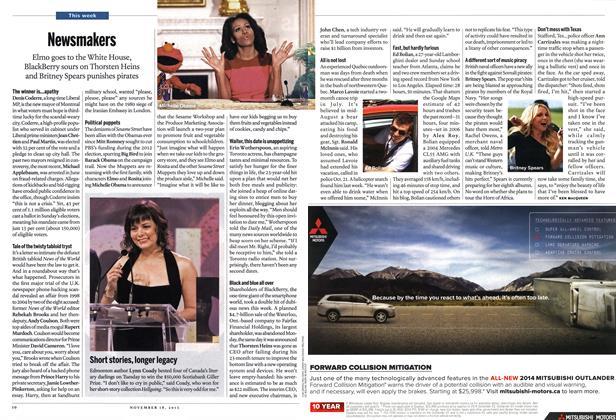 Article Preview: News makers, November 2013   Maclean's