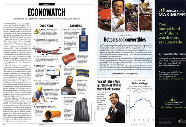 Article Preview: ECONOWATCH, November 2013 | Maclean's