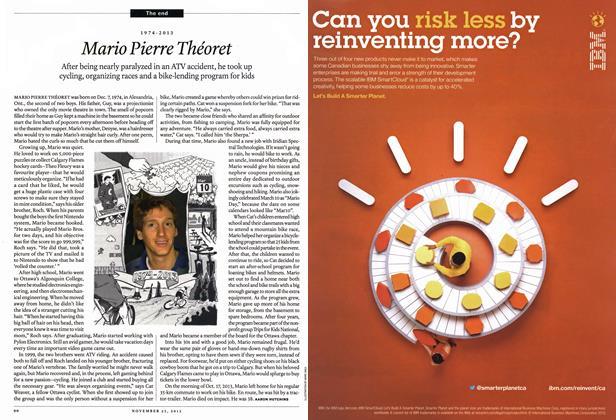 Article Preview: 1974-2013 Mario Pierre Théoret, November 2013 | Maclean's