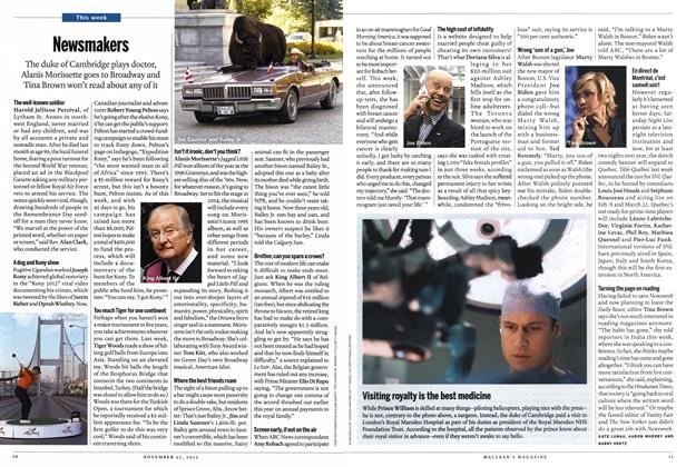 Article Preview: Newsmakers, November 2013   Maclean's