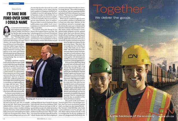 Article Preview: I'D TAKE ROB FORD OVER SOME I COULD NAME, November 2013 | Maclean's