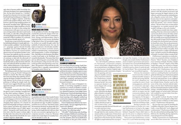 Article Preview: 05 FRANCE CHARBONNEAU, December 2013 | Maclean's