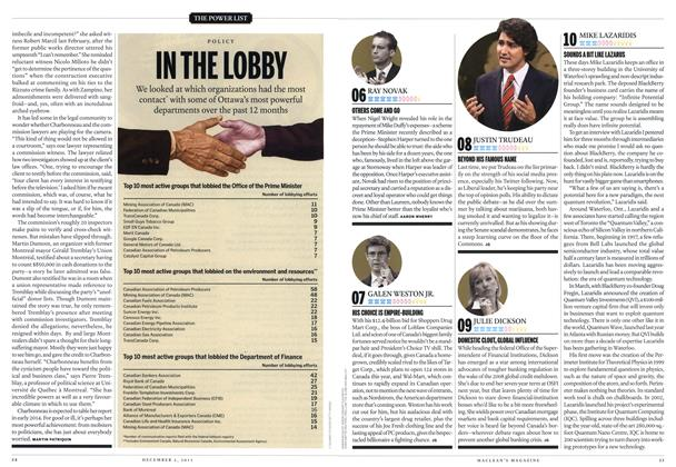 Article Preview: 10 MIKE LAZARIDIS, December 2013 | Maclean's