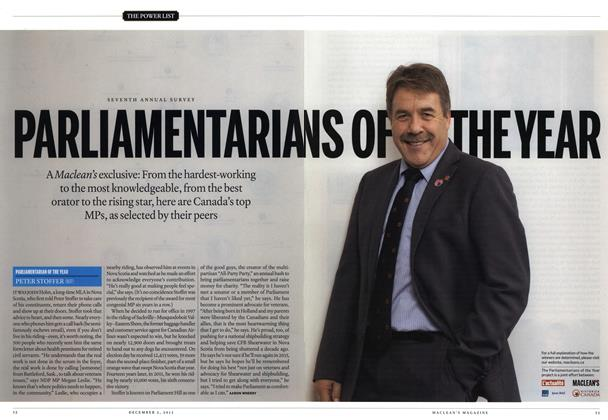 Article Preview: PARLIAMENTARIANS OF THE YEAR, December 2013 | Maclean's
