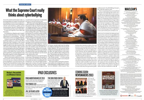 Article Preview: What the Supreme Court really thinks about cyberbullying, December 2013 | Maclean's