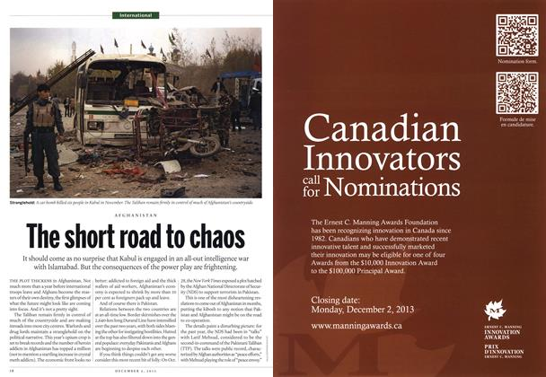 Article Preview: The short road to chaos, December 2013 | Maclean's
